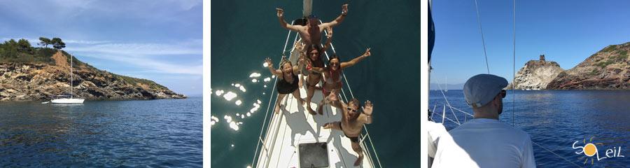 weekend in barca a vela isola elba giglio